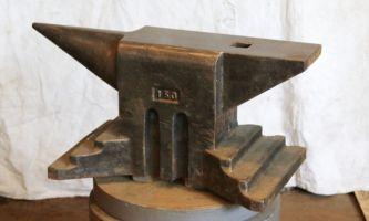 330 lb $2,200 Austrian cast steel anvil