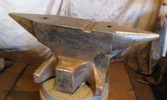 457 lb Sold German knife maker's anvil 1887