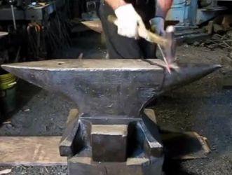 anvils for sale - transition forging on German double horn blacksmith anvils