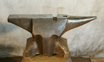 381 lbs $1,900 German church windows knife maker's anvil