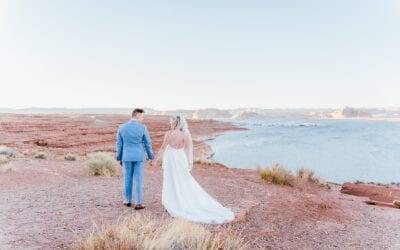 High School Sweethearts Intimate Lake Powell Wedding   Arizona Wedding