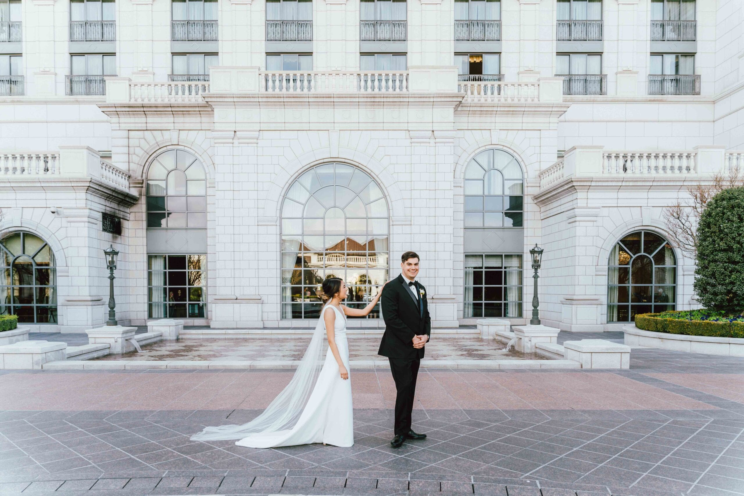 love brittny wedding at grand america hotel picture first look 2