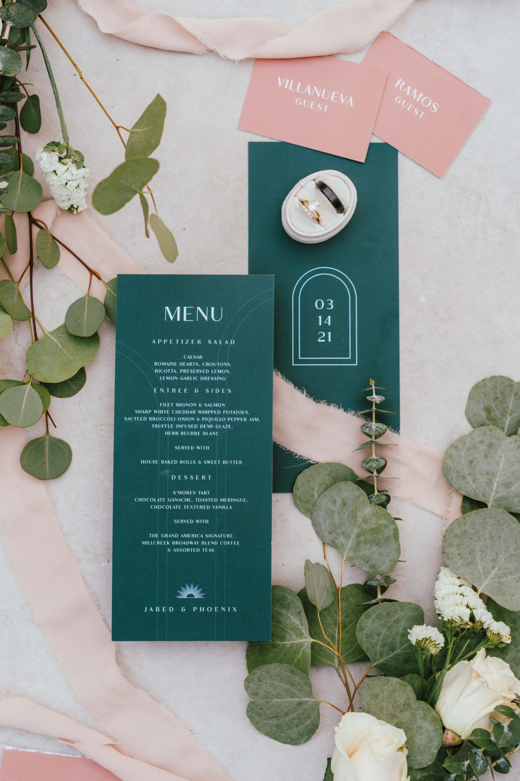 love brittny menu wedding