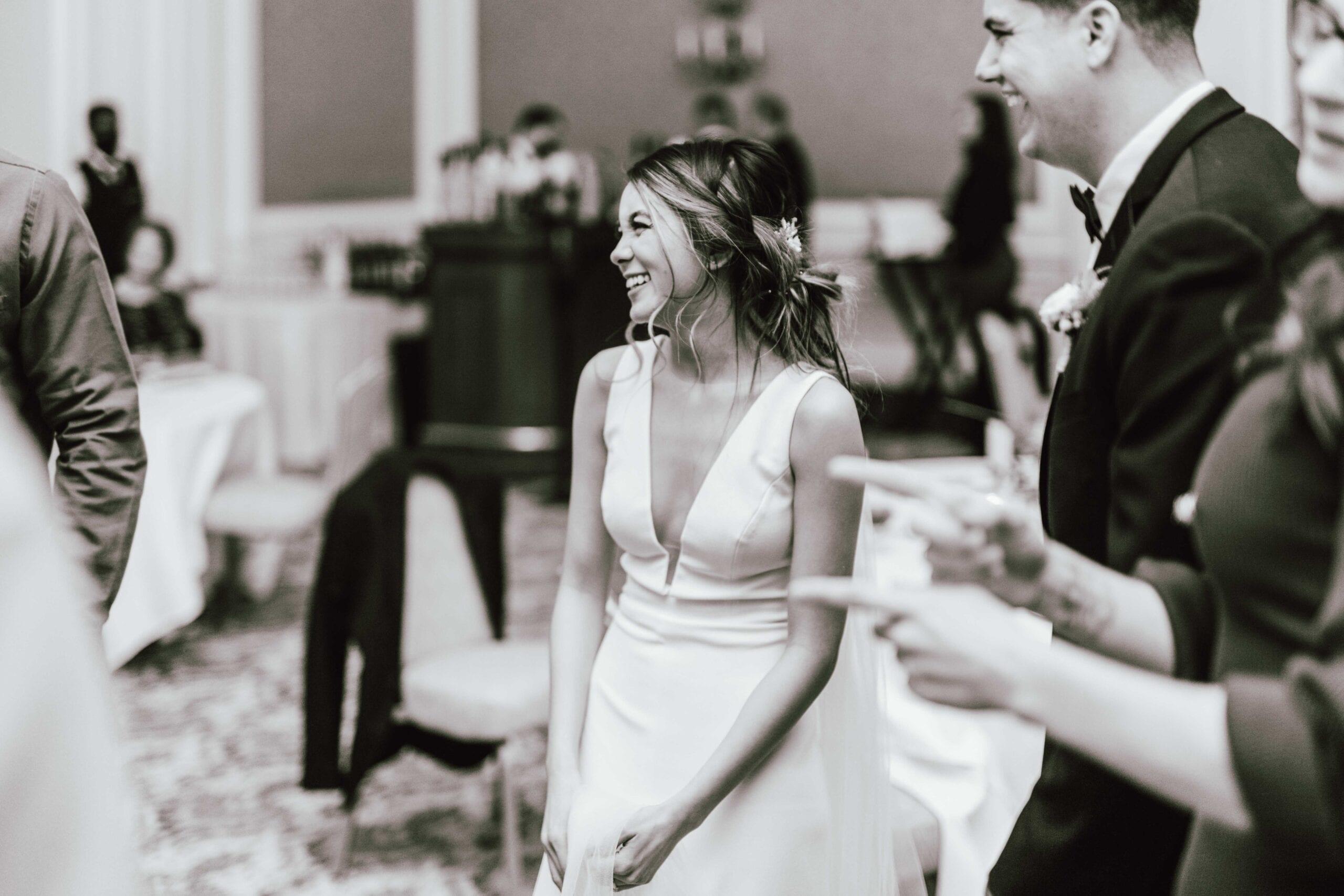 love brittny black and white bride