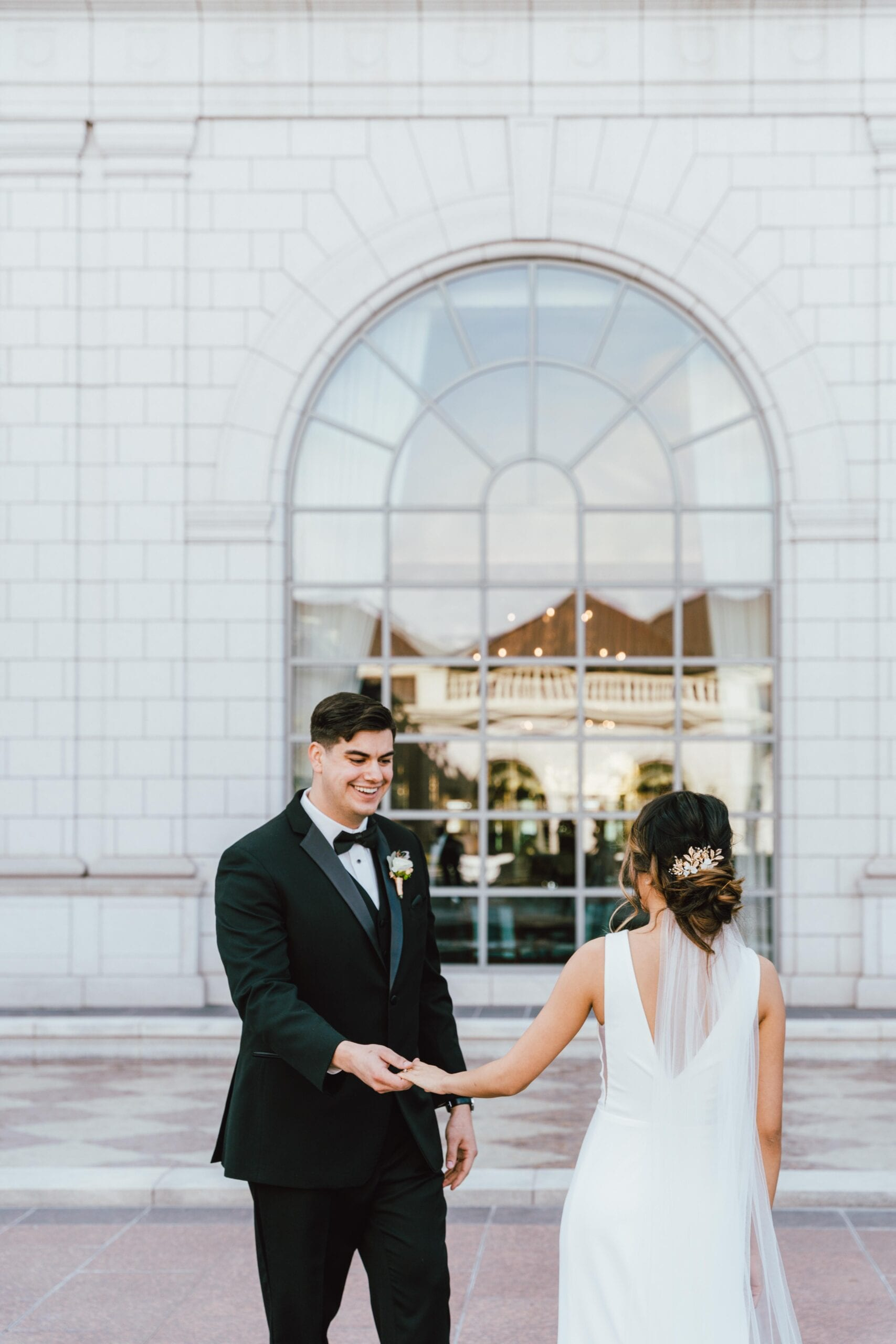 love brittny wedding at grand america hotel picture first look