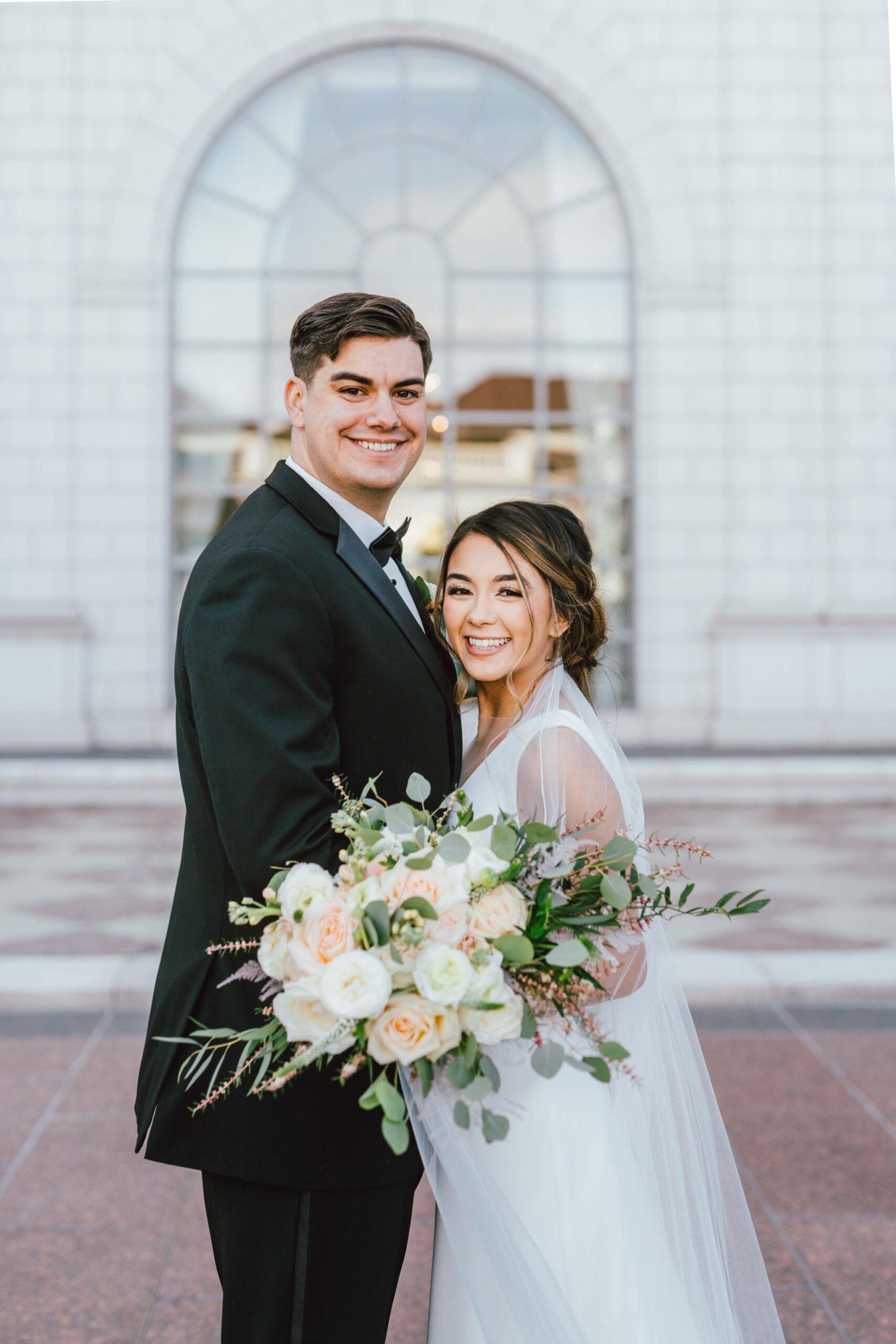 love brittny wedding at grand america hotel picture portrait
