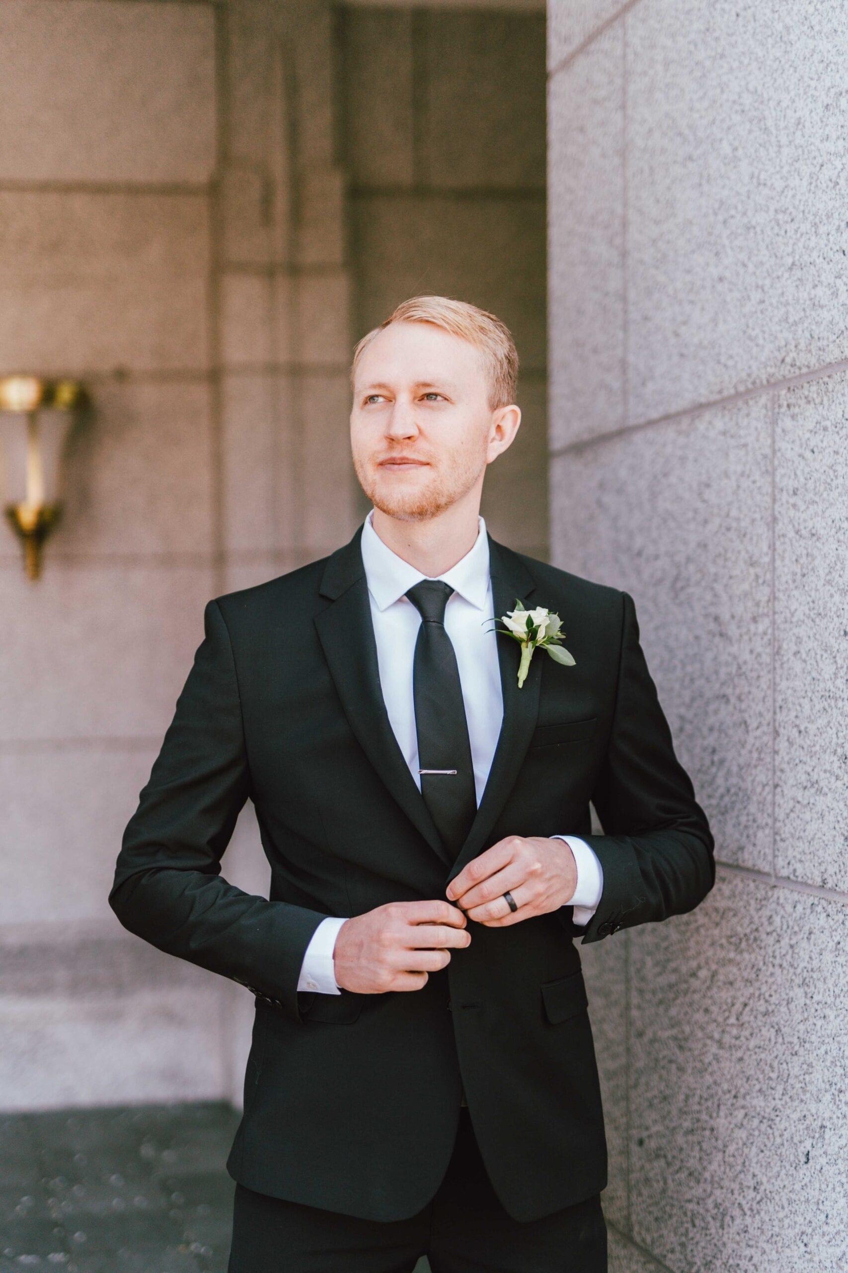 draper utah temple wedding groom