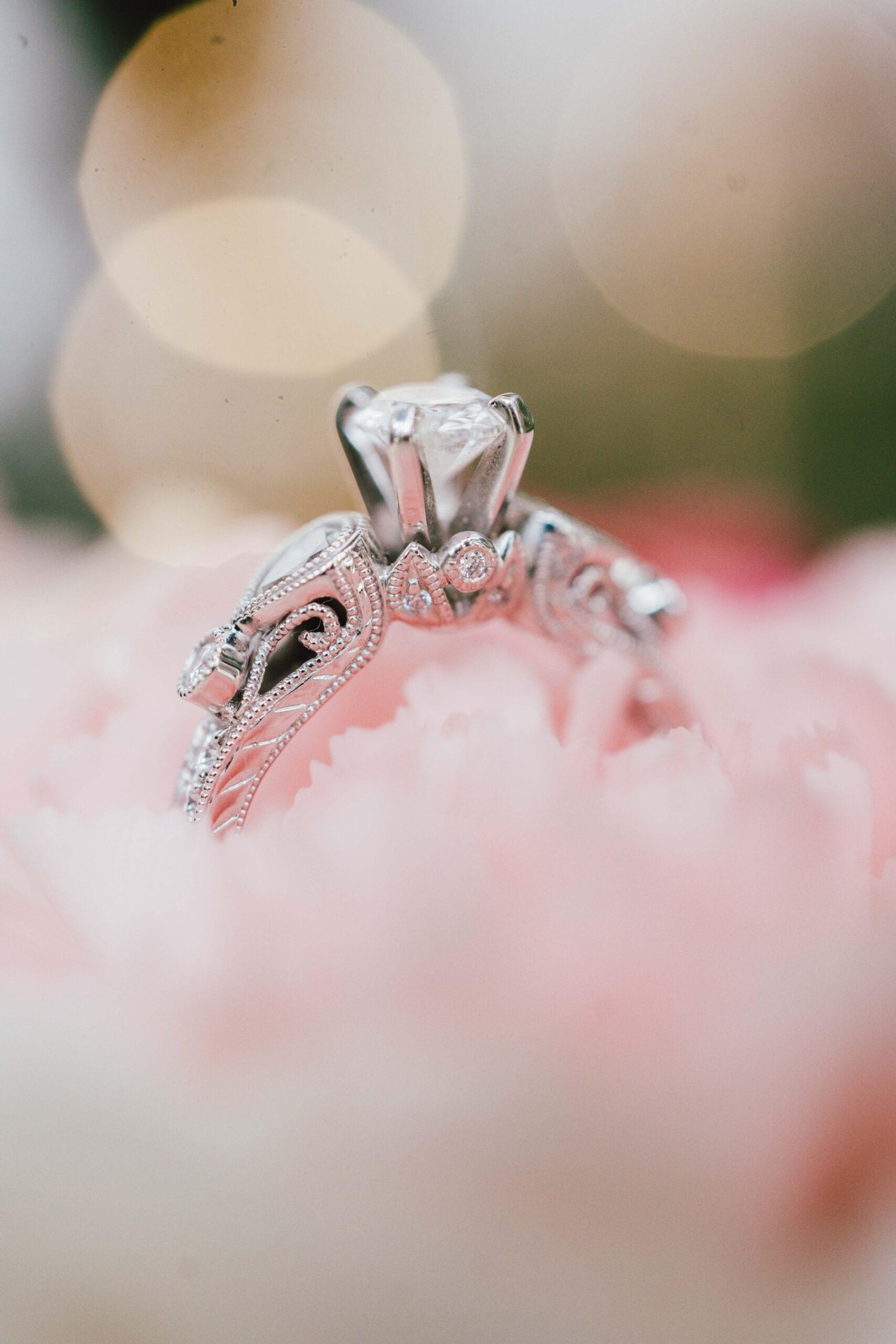 love brittny wedding rings pink