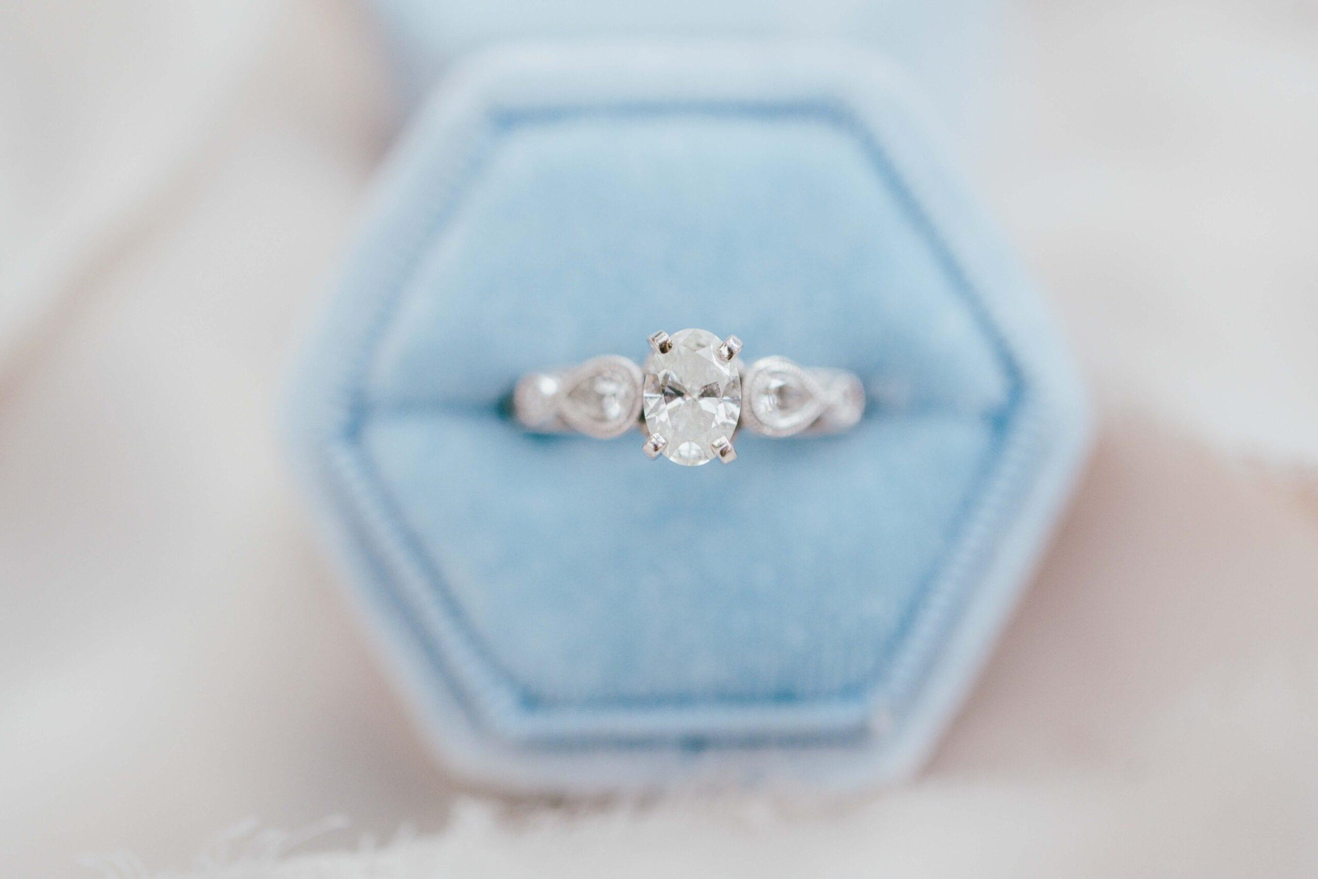 love brittny wedding rings blue