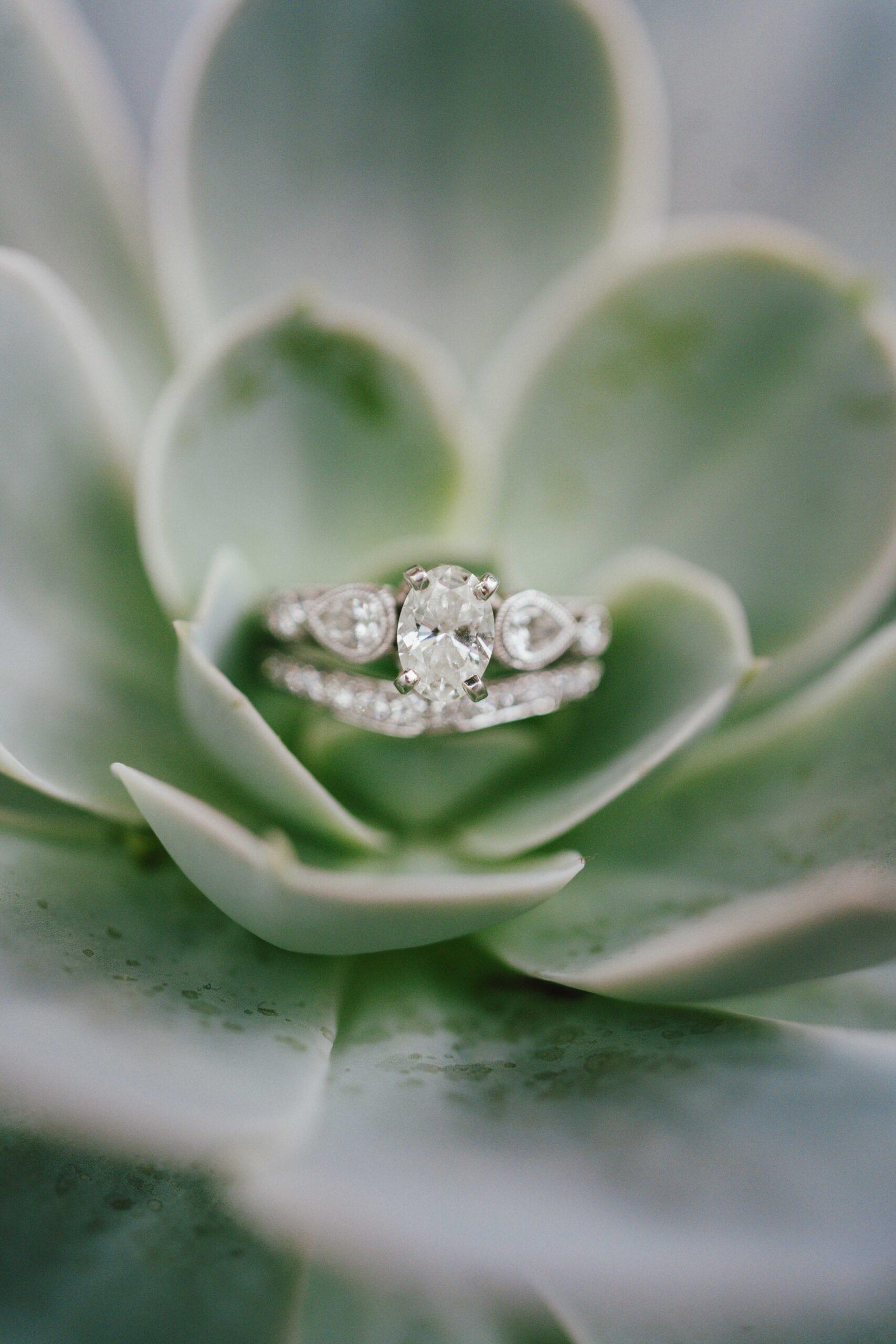 love brittny wedding rings green