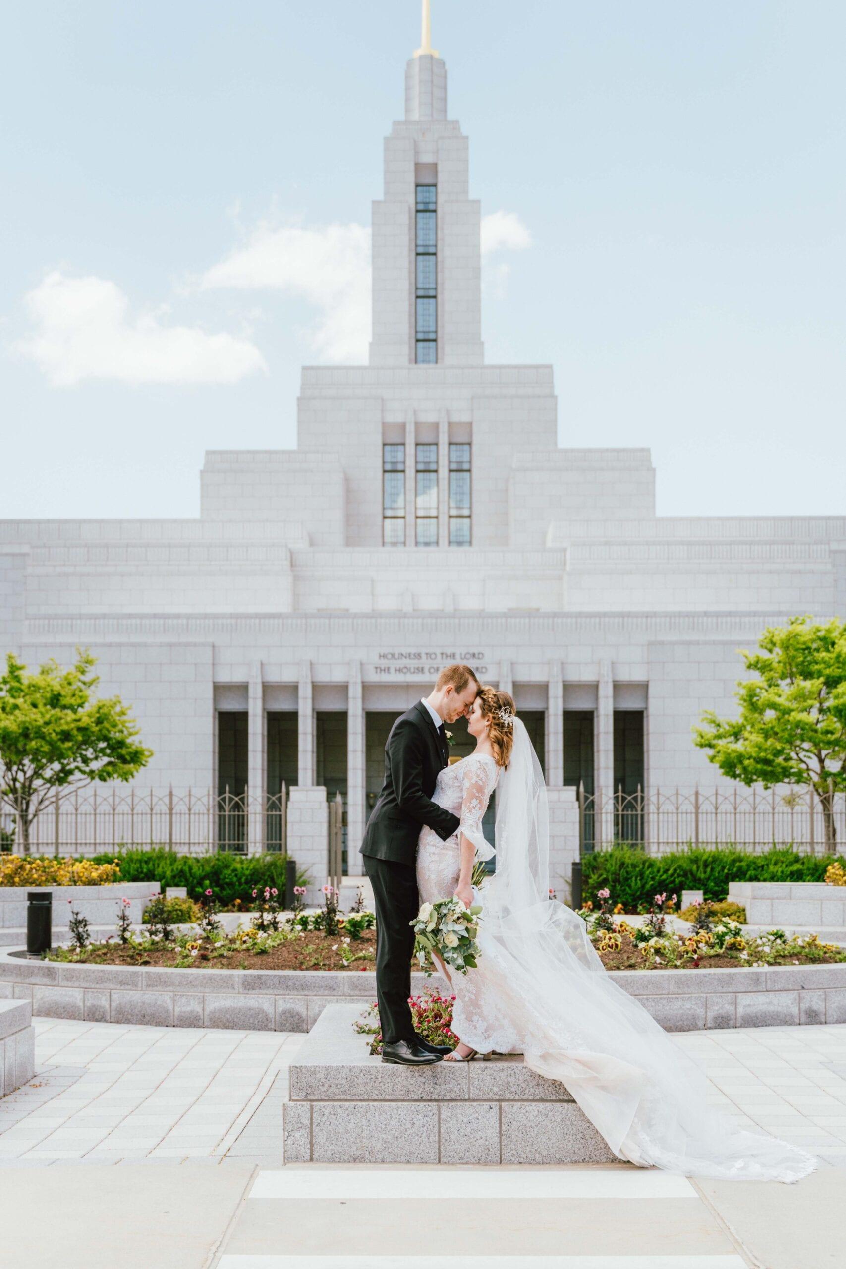 draper utah temple wedding