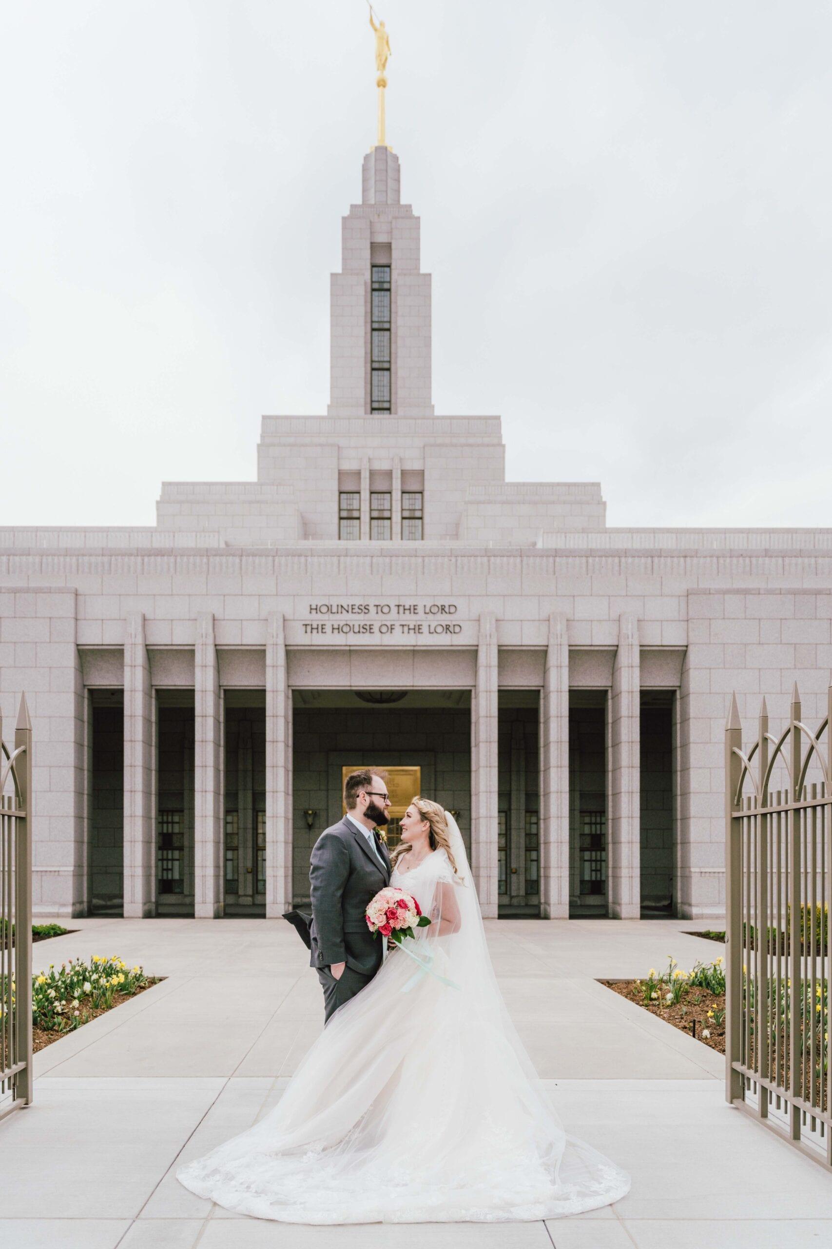 love brittny lds temple wedding draper