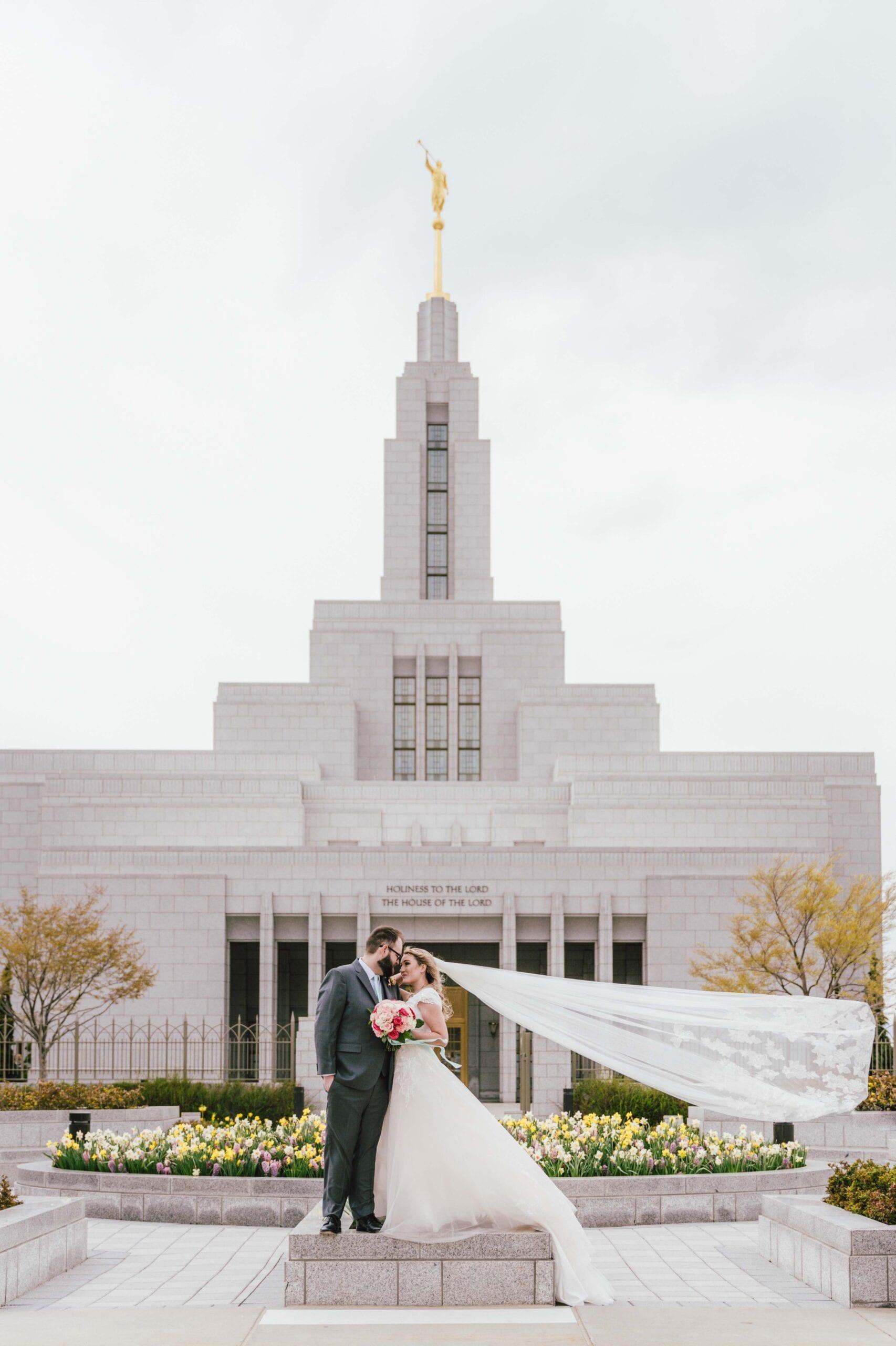 love brittny lds temple wedding draper wide