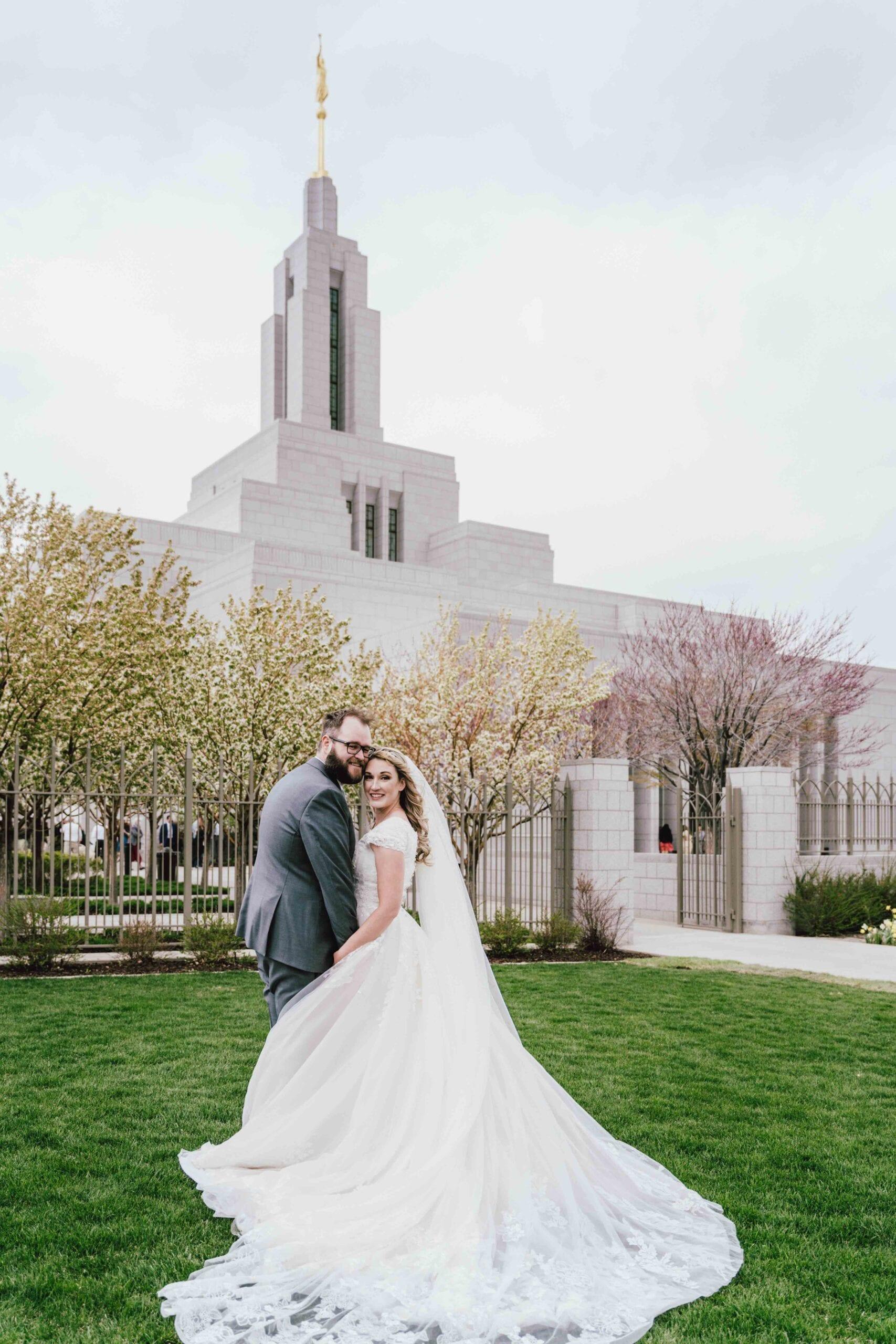 love brittny lds temple wedding wide