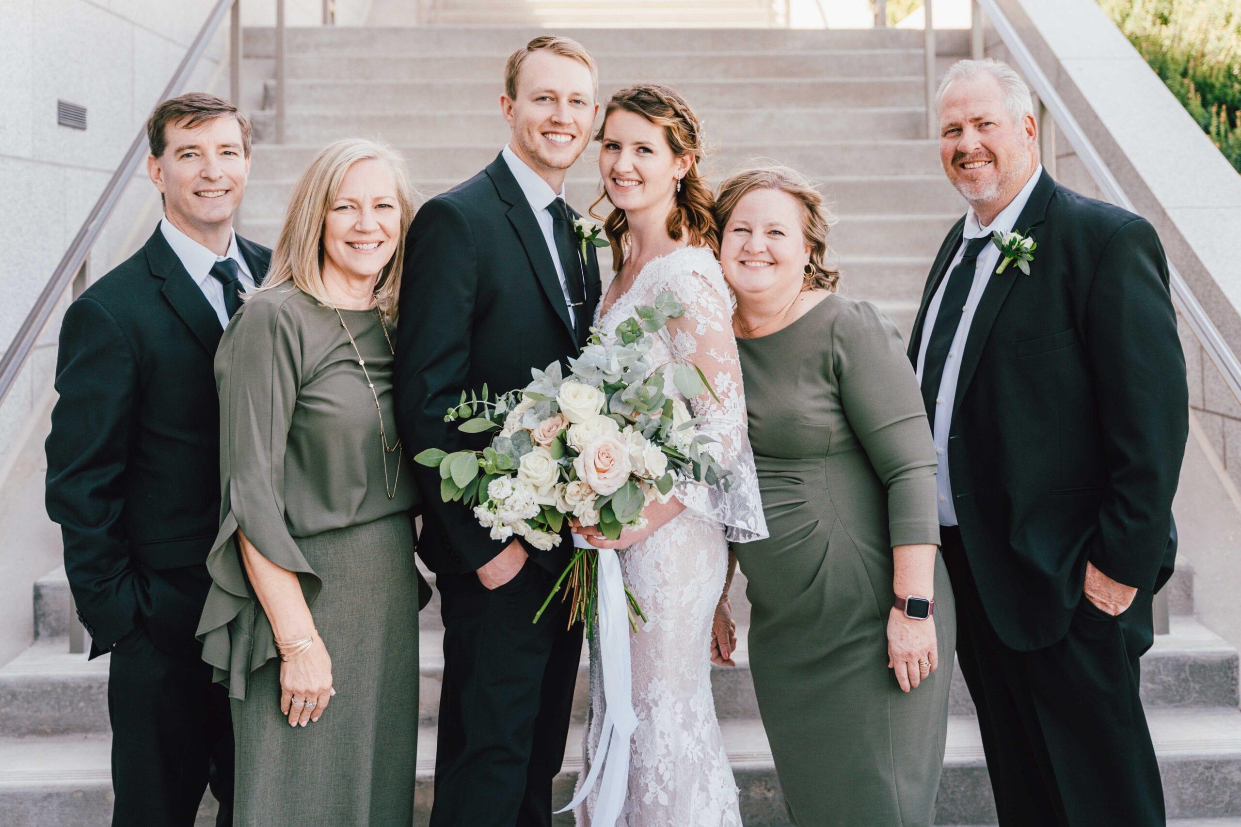 draper utah temple wedding family