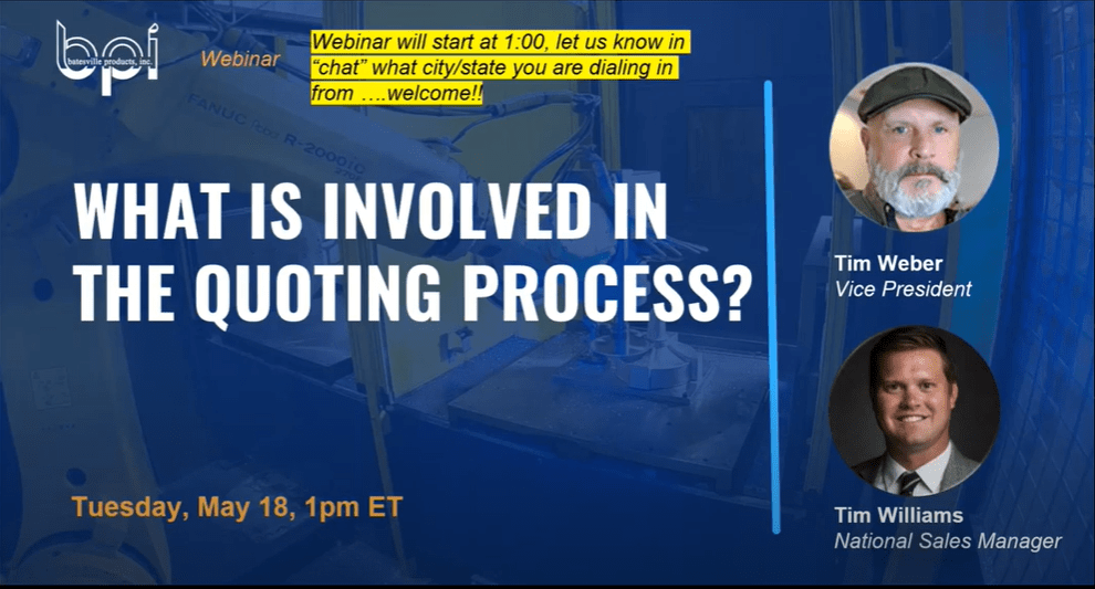 what is involved in the quoting process