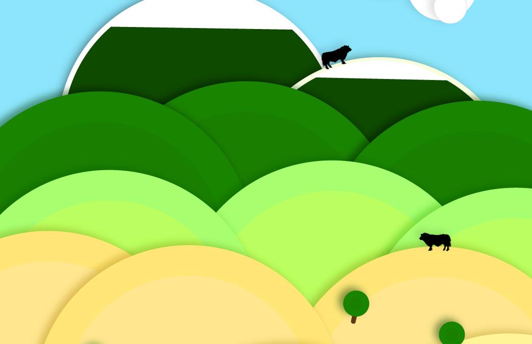 Rangeland Moo Cows