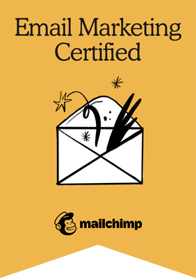 Mailchimp email marketing certificied