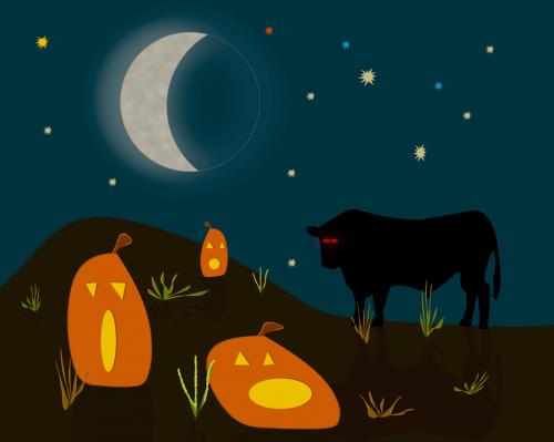 Halloween Cow