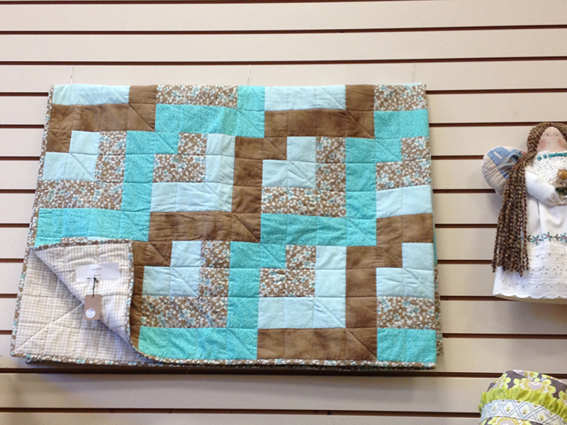 Tranquil colors in this lap quilt by Sharon