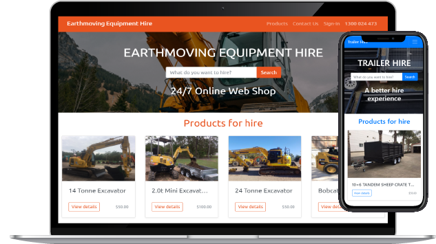 Create an online hire shop in seconds with all the tools you need to connect with customers, drive sales, and manage your day-to-day