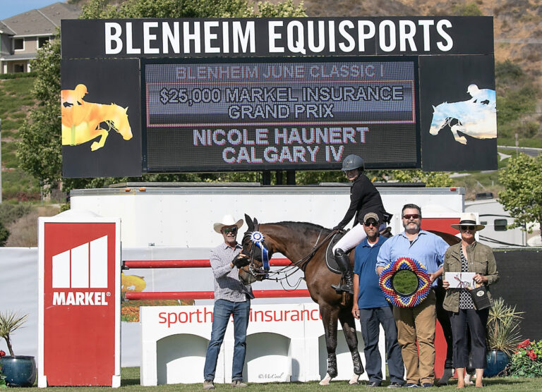 Nicole Haunert and Calgary IV Clinch the Win in $25,000 Markel Insurance Grand Prix