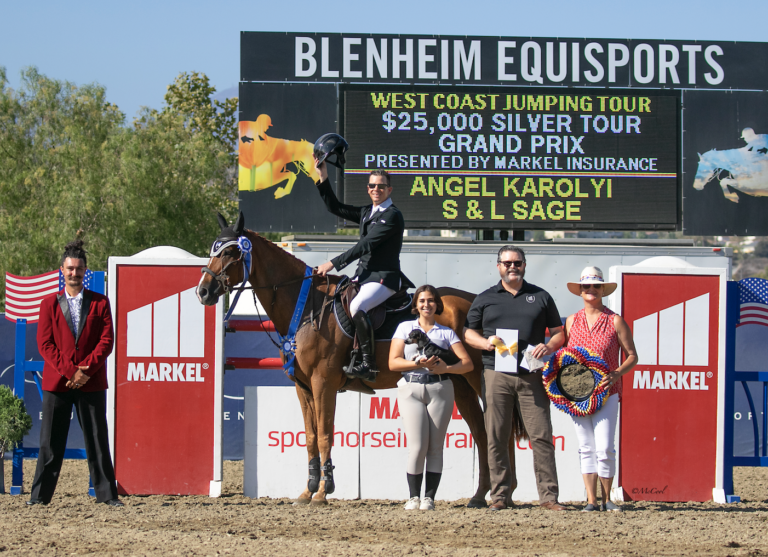Angel Karolyi and S & L Sage Win in $25,000 1.45m Silver Tour Markel Insurance Grand Prix at Blenheim EquiSports