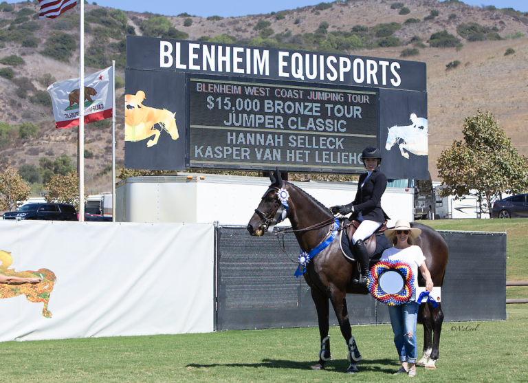 Hannah Selleck Sails to $15,000 1.35m Bronze Tour Victory at Showpark Summer Classic