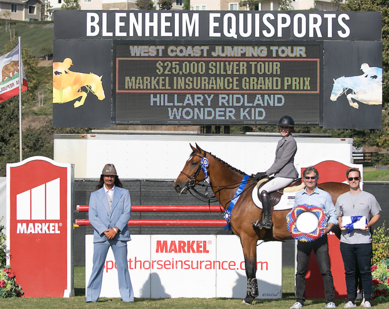 Hillary Ridland and Wonder Kid are Wonderful in $25,000 1.45m Silver Tour Markel Insurance Grand Prix