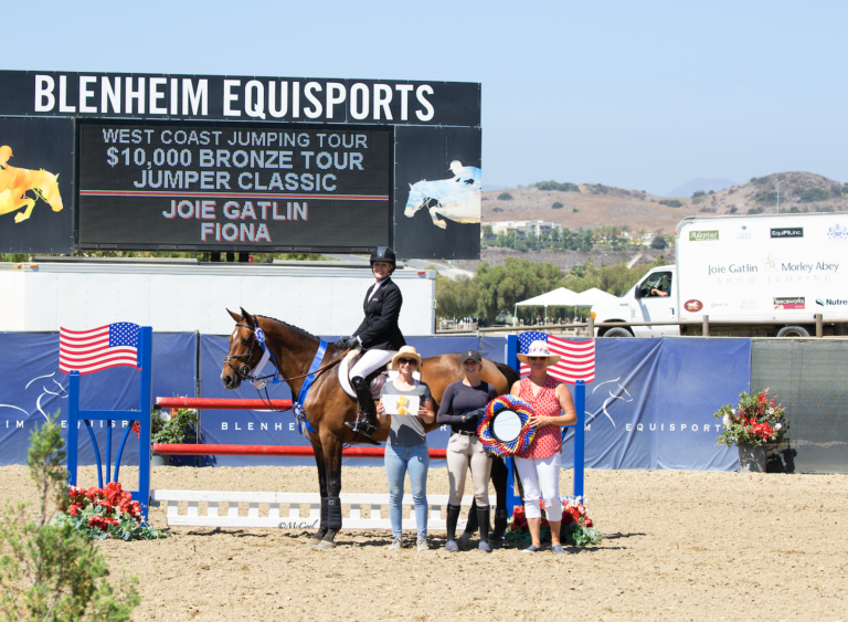 Joie Gatlin Secures Second Bronze Tour Win of the Week with Fiona at Blenheim August Festival