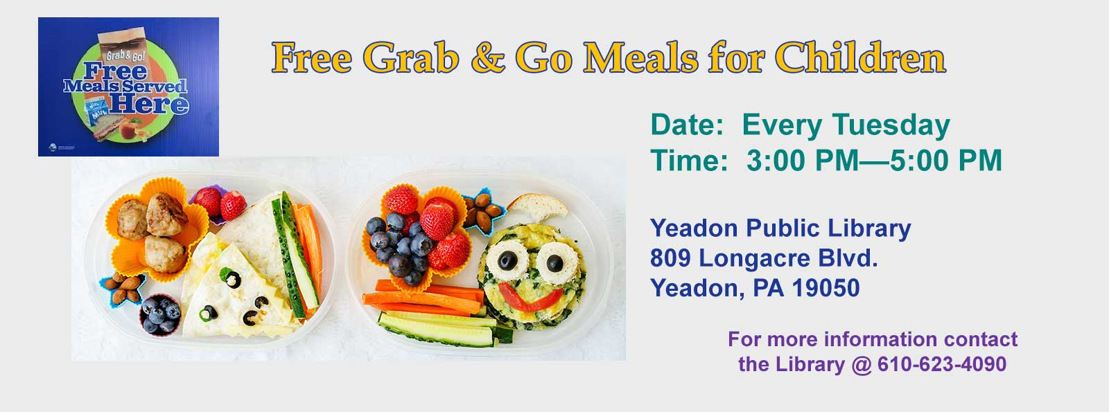 Free Grab and Go Meals for Kids