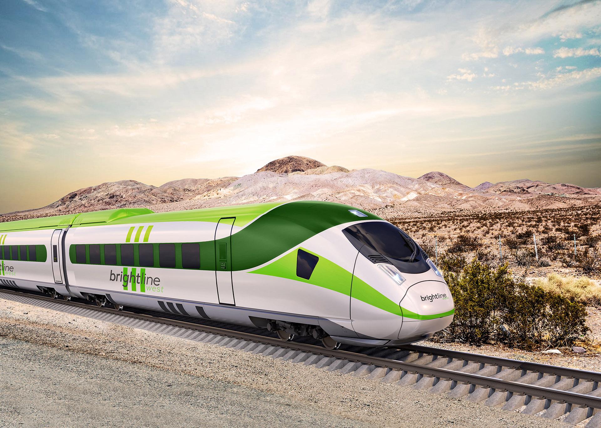 Rendering of Brightline Train