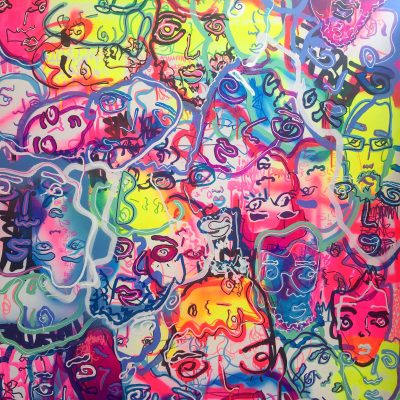 Evolved, acrylic and Aerosol 36 in. by 48 in.