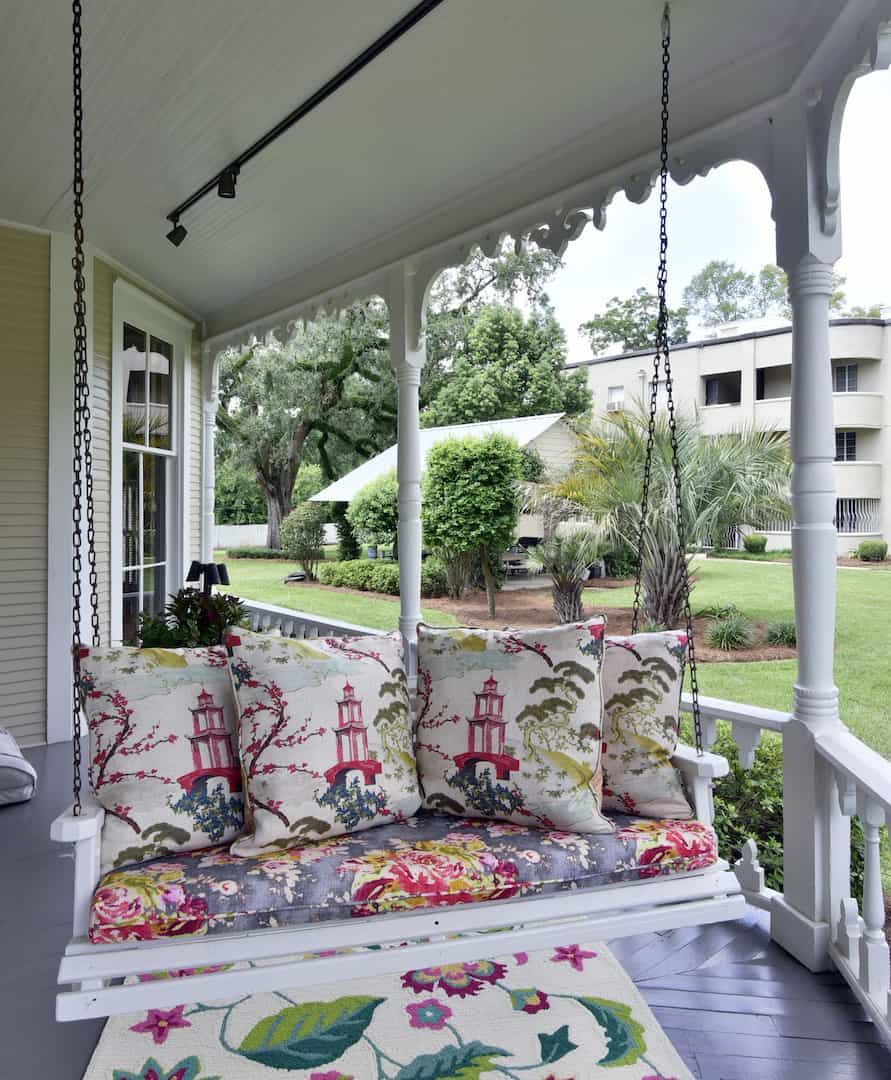 Front Porch Swing at GraceWay Recovery Residence Main House