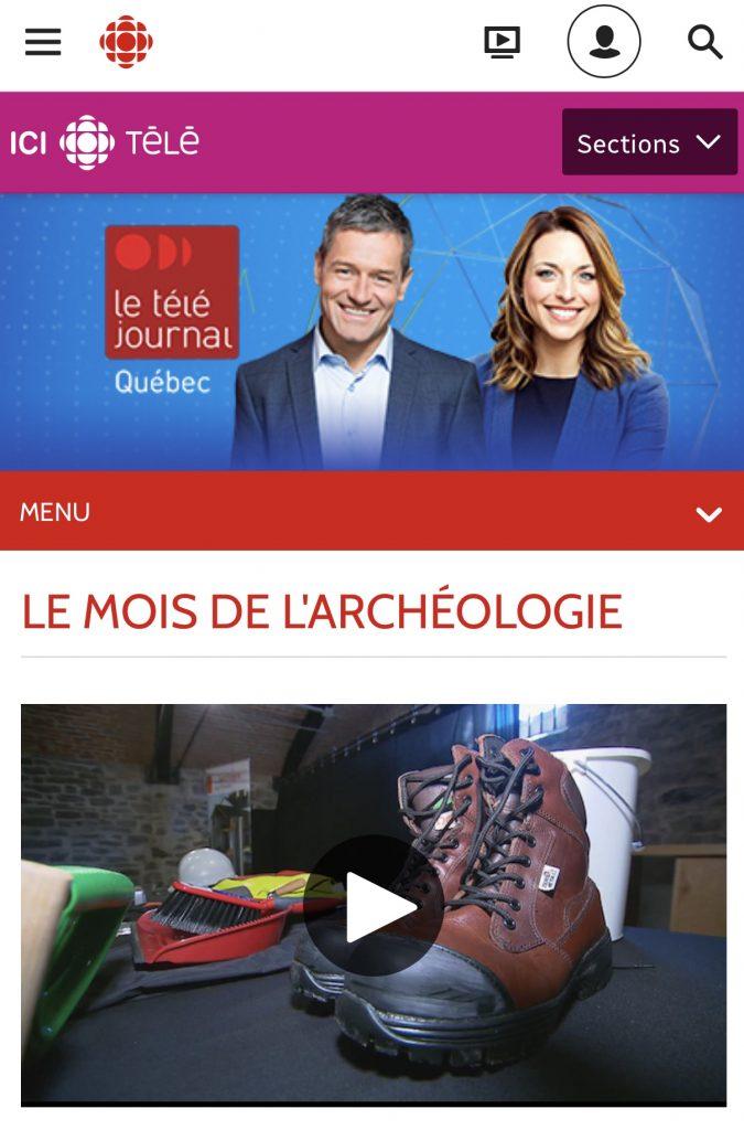 Retombée du mois de l'archéologie dans les médias