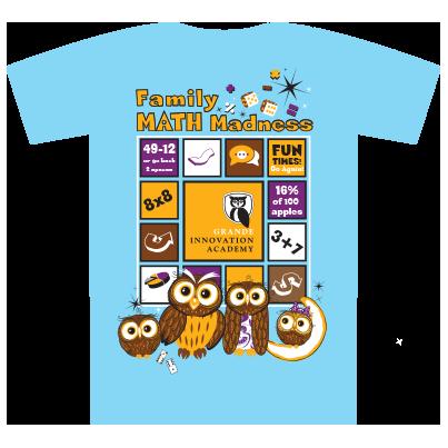 Family Math Madness Blue T-shirt