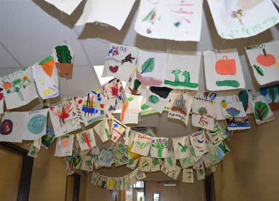 Art Hanging in the Halls
