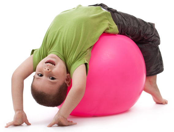 Boy on Yoga Ball