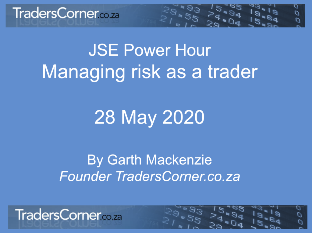 Managing risk as a trader