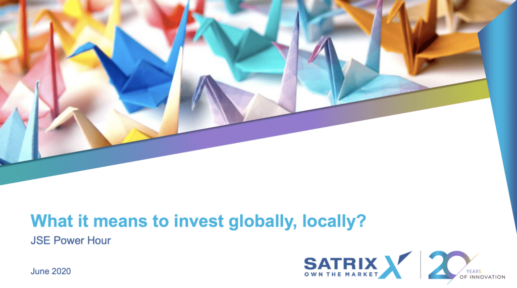 What it means to invest globally, locally?