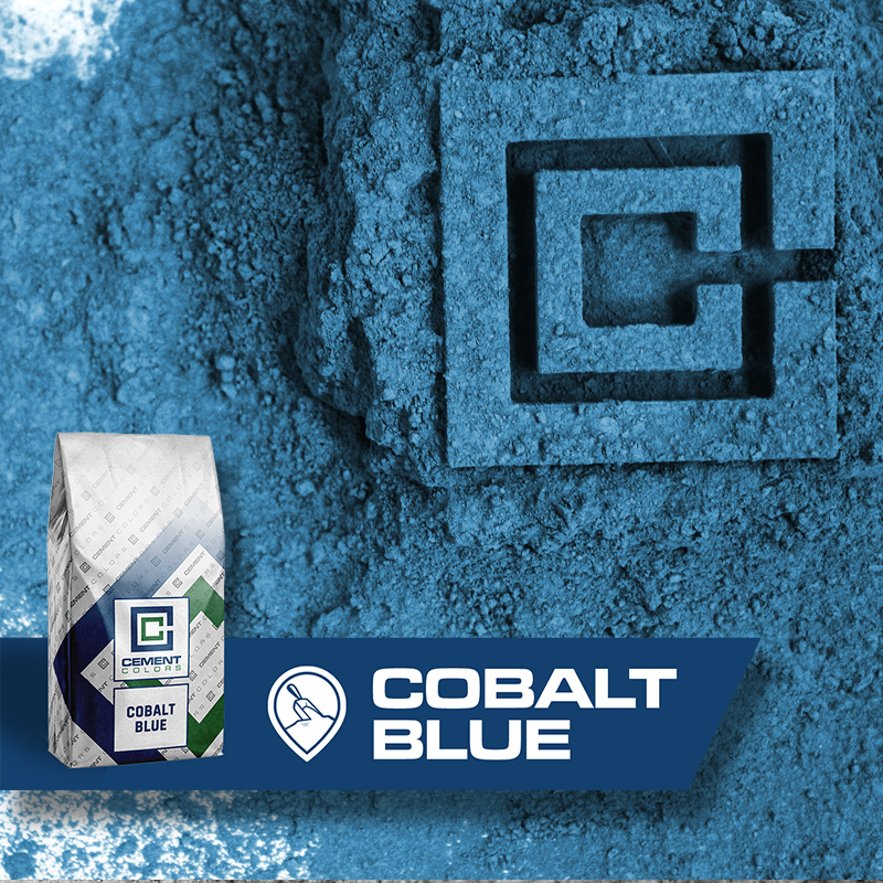 Cobalt Blue - Raw Pigment for Concrete by Cement Colors