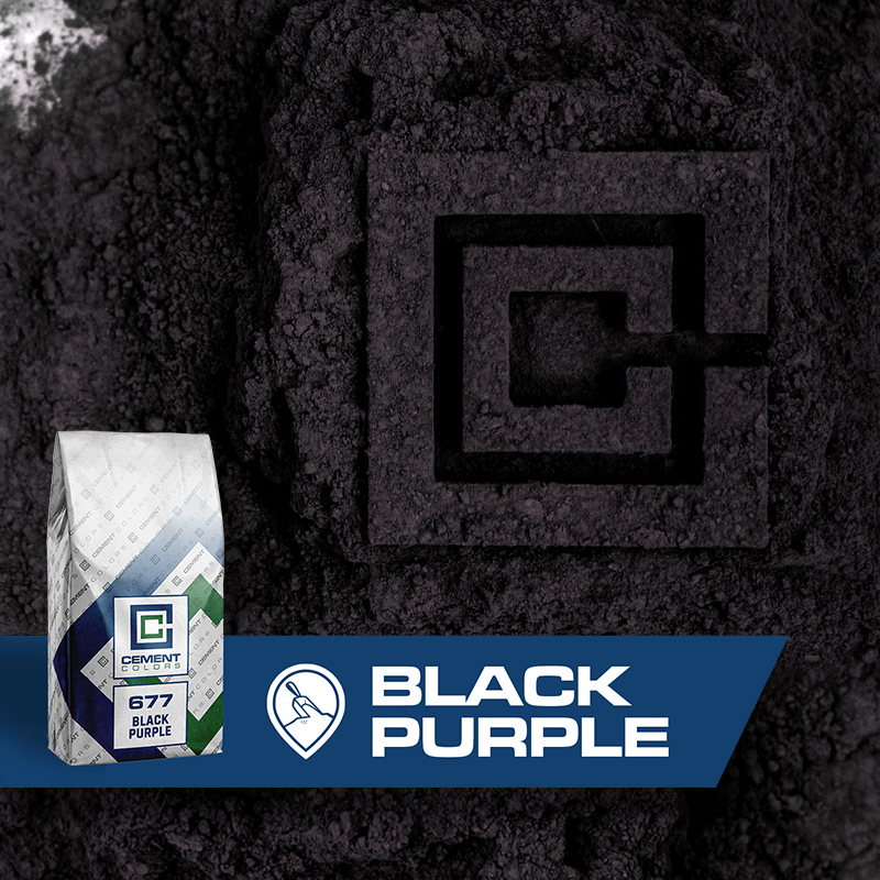 Black/Purple - Raw Pigment for Concrete by Cement Colors