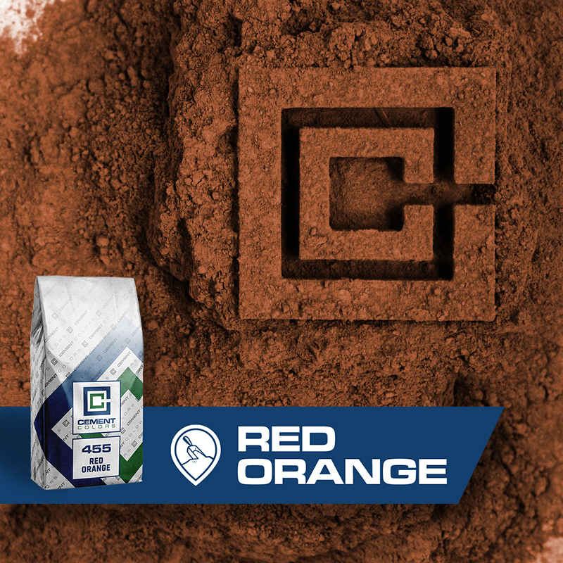 Red Orange - Raw Pigment for Concrete by Cement Colors