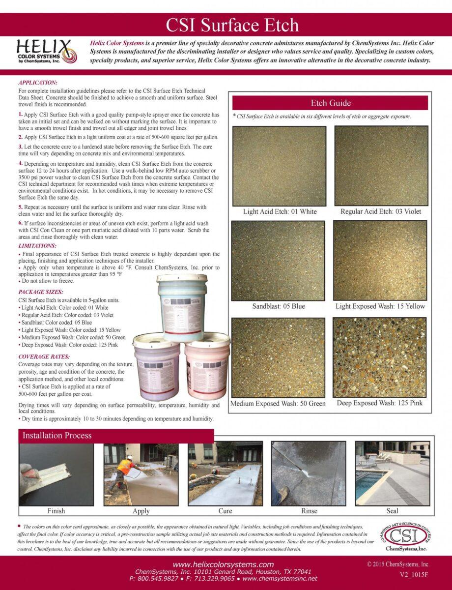 Chem Systems Surface Etch Flyer
