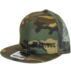 Woodland Camo Hat Cement Colors