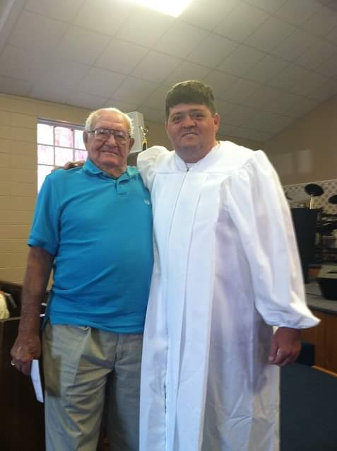 My PawPaw and I on my Baptism Day