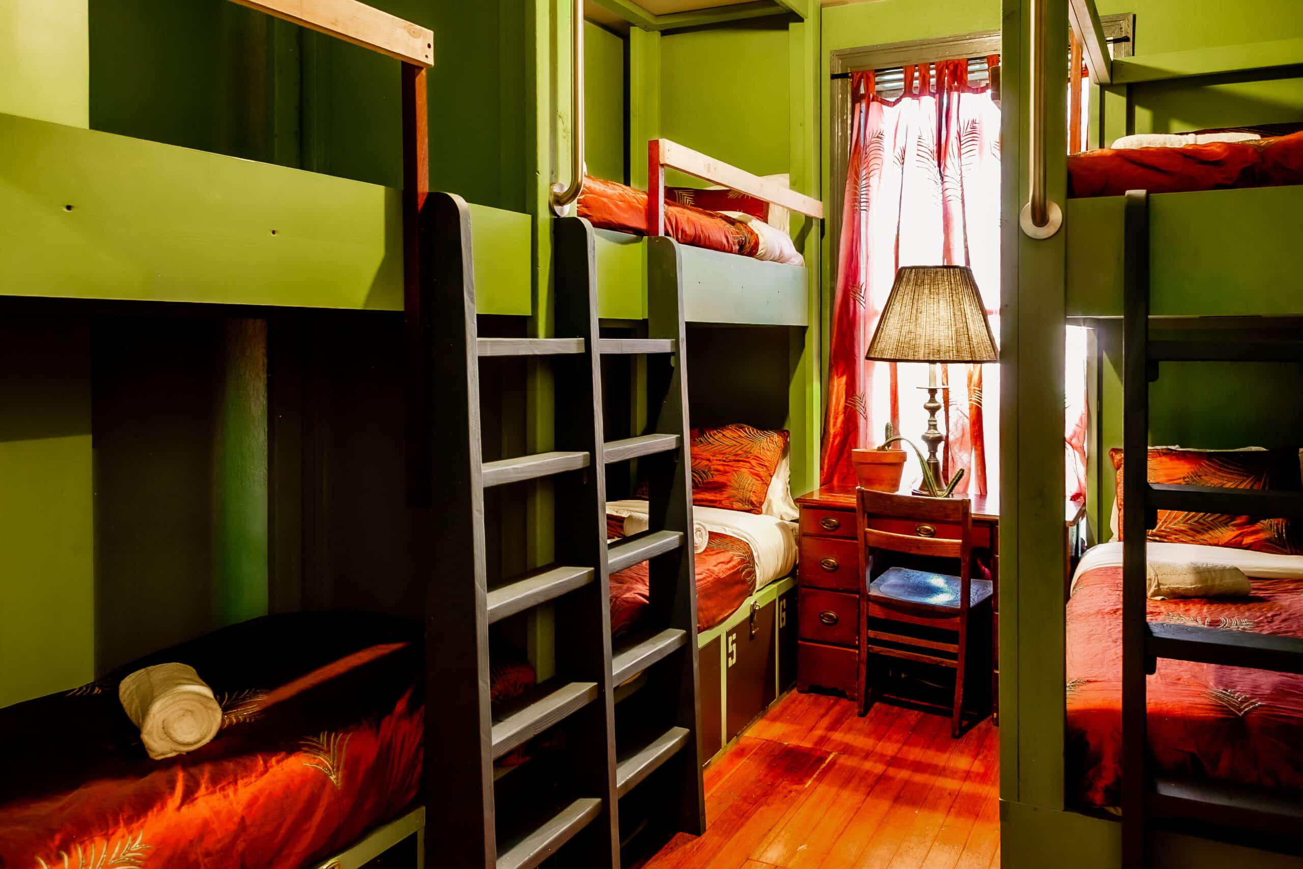 high style bunk room at the good will engine company micro hotel in providence, ri