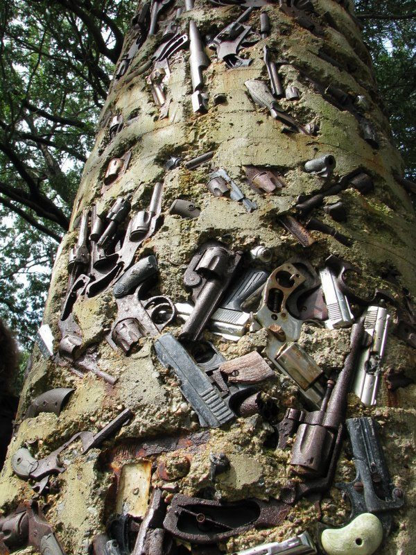 Gun Totem Sculpture