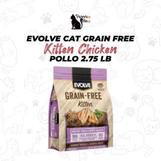 EVOLVE CAT GRAIN FREE KITTEN CHICKEN - POLLO 2.75 LB
