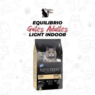 Equilibrio Gatos Adultos Light Indoor.